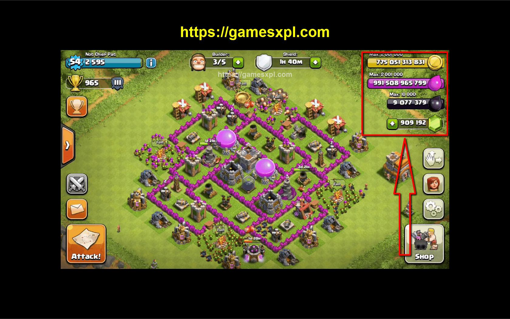 clash of clans unlimited gems gold elixir apk